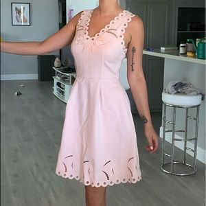 NWT Ted Baker pale pink embroidered dress
